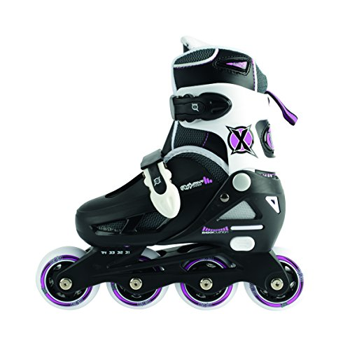 Xootz Girl's Inline Skates Adjustable and Padded Roller Blades-Black, Size 12-1