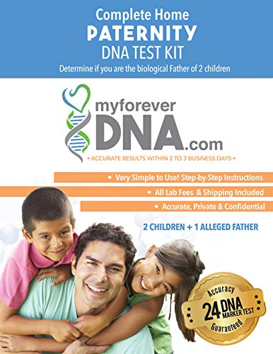 My Forever DNA - Paternity DNA Test Kit (2 Children + 1 Alleged Father) Includes All Lab Fees & Shipping to Lab 24 DNA (Genetic) Marker Test Accurate Results in 1-3 Business Days
