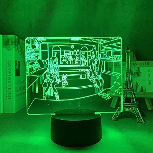 Lámpara de noche 3D anime ilusión anime LED buena noche punpun para dormitorio decoración de luz nocturna regalo de cumpleaños habitación decoración mesa 3D lámpara manga buena noche Punpun HAFS