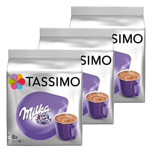 Tassimo Milka Kakao-Spezialität Becherportionen 3er Pack, Schokolade, Kapsel, 24 T-Discs/Portionen