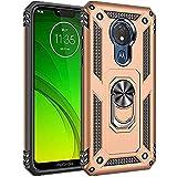 Carcasa para Motorola G7 Power, 360 grados giratoria, soporte para anillos, cubierta de TPU, amortiguación de golpes, carcasa para Motorola G7 Power dorado talla de un talla