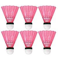 ナイロンプラスチックバドミントン実用的なシャトルコックスポーツ用品屋内屋外の演奏学校のアクティビティのアクセサリーシャトルコック、バドミントンシャトルコック、バドミントン (Color : Pink)