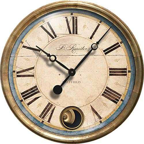Trademark Time Co B Rossiter Blue Wall Clock
