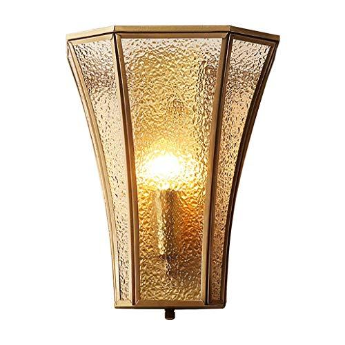 YLCJ Wandmontierte Wandhalterungen E14 Alle Bronze-Stangen Wandleuchte Schlafzimmer Wohnzimmer Neben Bett Neon Ladder Room Ohne Lichtquelle 21 * 11 * 25 cm (8.27 * 4.33 * 9.8