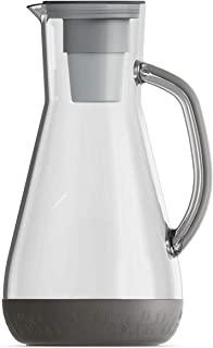 Hydros 8-Cup Water Filter Pitcher Powered by Fast Flo Tech   1 Minute Quick Filling Filter 64 OZ Pitcher, BPA Free, Grey