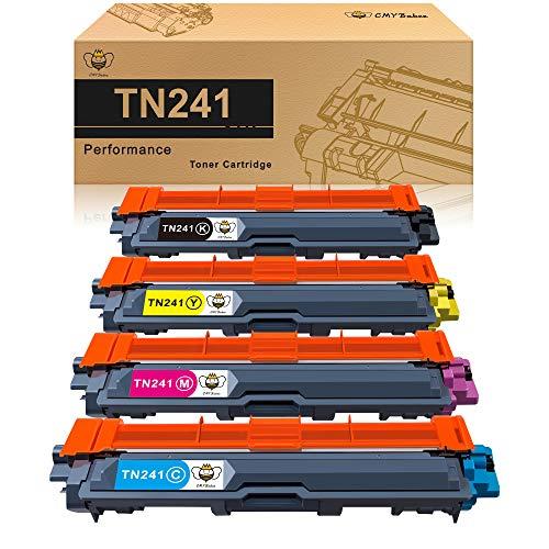 CMYBabee Cartuccia di Toner Compatibile Ricambio per Brother TN241 TN245 per DCP-9020CDW DCP-9015CDW HL-3140CW HL-3150CDW HL-3170CDW MFC-9130CW MFC-9140CDN MFC-9330CDW MFC-9340CDW (4 Pacco)