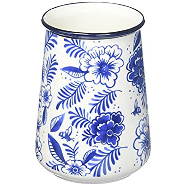 True Fabrication Indigo Floral Utensil Holder, medium, Multicolor