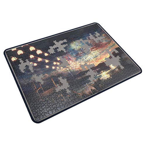 Tektalk Jigsaw Puzzle Board Portable Puzzle Mat for Puzzle Storage Puzzle Saver, Non-Slip Surface, Up to 1000 Pieces (Dark Gray)