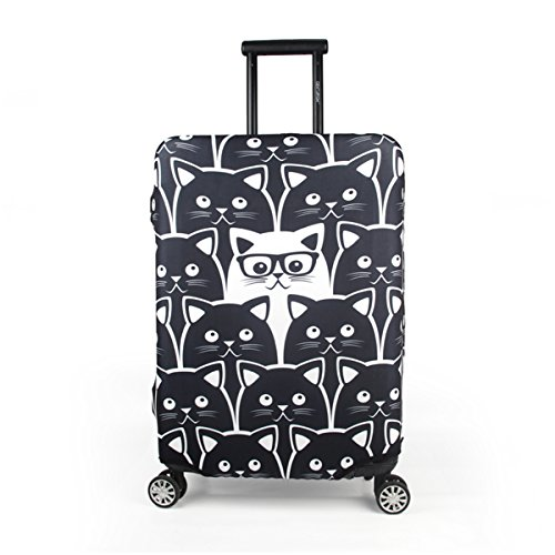 Maady's Home Travel Luggage Cover Trolley Case Protective Cover Fits 23'-32' Inch Luggage (Cat, XL (29'-32' inch Luggage))