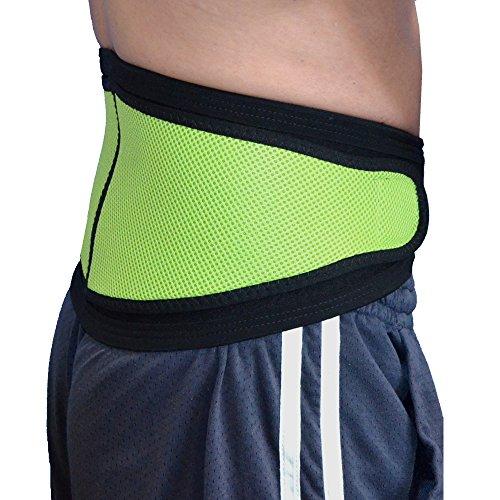 Faja Lumbar - Cinturón de Protección Lumbar UNICA – ANTI-SUDOR, HIPOALERGÉNICA (SIN NEOPRENO – SIN LATEX), respeta las píelas más delicadas. 4DflexiSPORT (VERDE LIMA, XL, 110cm-130cm)