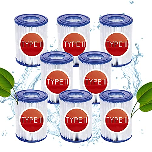 Hoimlm Cartuccia filtro per piscina Bestway misura 2, per Bestway 58094 cartucce di ricambio taglia II, cartucce filtranti per piscina, accessori per la pulizia della piscina