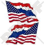thai decal - USA United States of America & THAILAND Siam, American-Thai Siamese Flying Flag 3