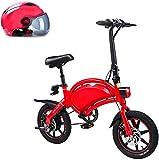 Bicicletas Eléctricas, 14' bicicleta eléctrica plegable City, de hasta 25 km / h, velocidad ajustable u200B u200B bicicletas, 250W 36V 10.4Ah batería / de litio, unisex adulto, padre-hijo bicicleta el