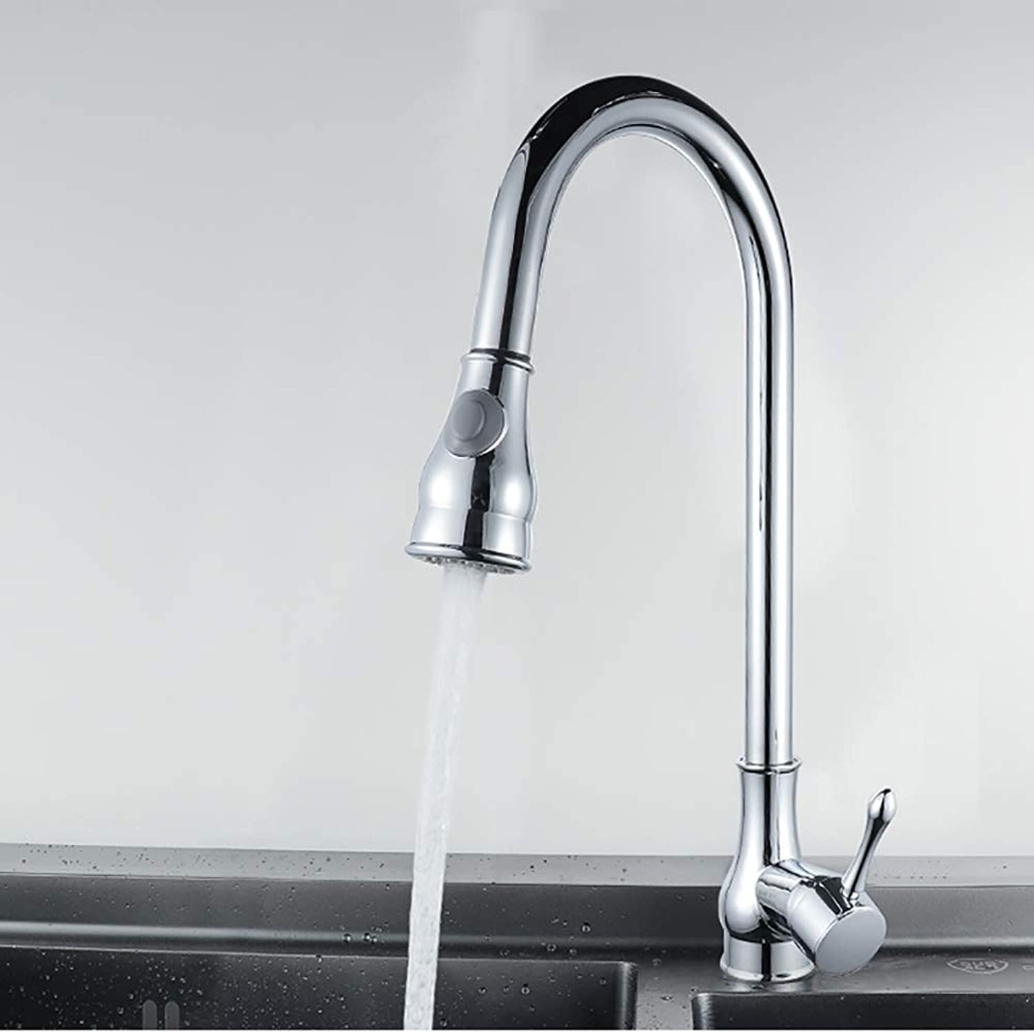 NineDays All-copper kitchen sink pulls hot and cold water taps Kitchen sink pulls hot and cold water taps