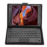 Mugast Bluetooth Tastatur mit Schutzhülle,Tragbar Wireless Bluetooth Touchpad Keyboard+Case Hülle,Mini Eingebaute Schutzhülle Kabellos Tastatur mit Ständer für 7-8 Zoll Tablet/PC