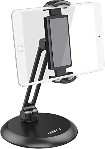 """new arrival Nulaxy Tablet Stand, Adjustable Tablet Holder with Heavy Metal Base, Desktop Mount Recipe Holder high quality Stand high quality Compatible with 4-11"""" Phones, Tablets, iPad, Nintendo Switch, Surface Go, Kindle online sale"""