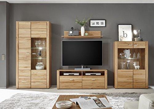 Wohnwand - Holzdekor Buche, massive Anba auf schoene-moebel-kaufen.de ansehen