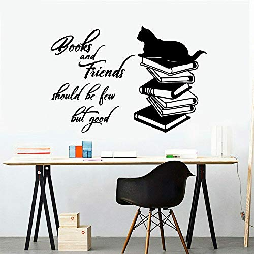 Katzenbuch abnehmbare Wandaufkleber lernen Kinderzimmer Dekoration Vinyl Familie Wandbild Klassenzimmer Dekoration Wandaufkleber60x42cm