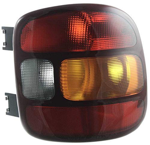 Evan-Fischer Tail Light Lens and Housing Compatible with 1999-2003 Chevrolet Silverado 1500 Stepside Passenger Side