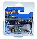 Hot Wheels Mustang Funny Car (gris - Treasure Hunt) 10/10 HW Race Day 2021 - 156/250 (tarjeta corta) GTC94 *** Viene en una funda protectora para el coche KLAS
