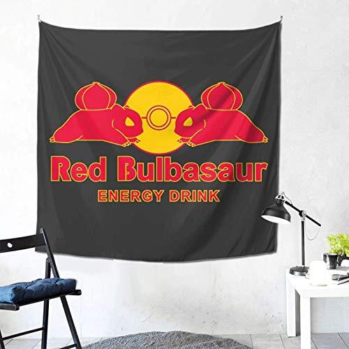 Monster der Tasche Red Bulbasaur Energy Drink Wandbehang Wandteppich für Wohnzimmer und Schlafzimmer verbreitet Gute Stimmung 59× 59 Zoll