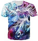 Spreadhoodie Unisex Camisetas 3D Unicornio Patrón Impreso Camisetas Cuello Redondo...