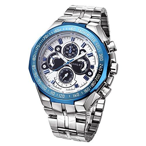 WWOOR orologio sportivo per la Mens non-meccanico orologi di moda impermeabile luminoso dell'orologio (blu)