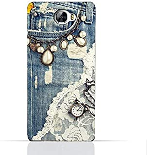 Huawei Y6 II Compact TPU Silicone Case With Modern Jeans Pattern