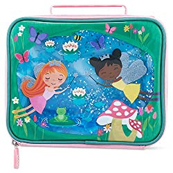 FAIRIES IN THE GARDEN GEL DESIGN: Keep kids reaching for lunch with this delightful Fairies in the Garden Gel touch design lunch cooler bag. PERSONALISABLE AND UNMISSABLE: Small plastic window and card name insert on the bottom of the bag so everyone...