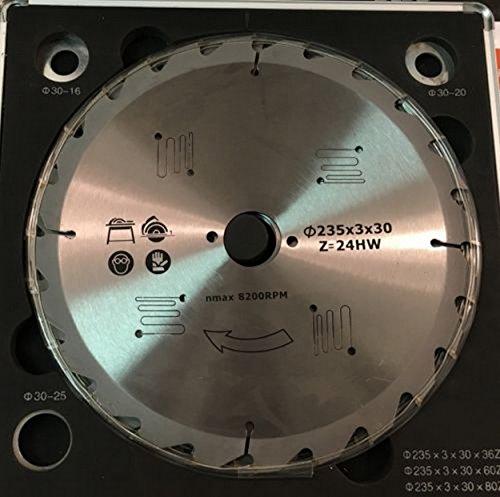 Set met 3 zaagbladen, 235 mm, carbide, 24 – 34 – 60 tanden cirkelzaag.