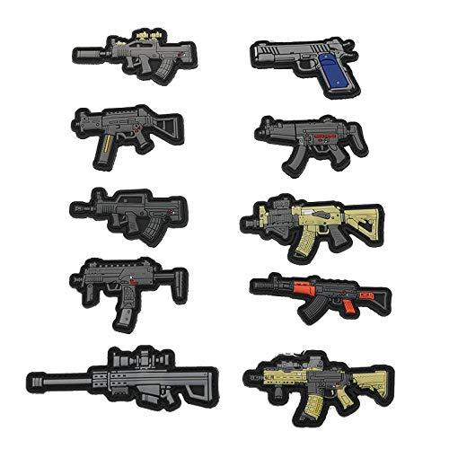 PMSMT Tactical 3D PVC Moral Brazalete Militar Pegatinas entusiastas Militares Personalidad táctica Mochila Pegatinas Mini Parche de Arma