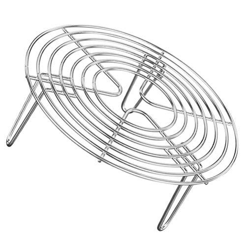 Cabilock Küchen-Dampfgitterständer Edelstahl-Backkühlung Dampf-Grillrost Schnellkochtopf (16X7cm)