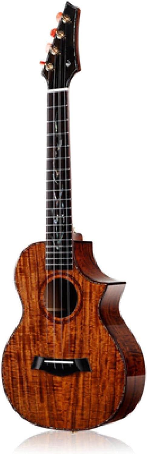 KEPOHK Ukelele de 26 pulgadas, toda la guitarra de Hawaii con chapa de acacia sólida con accesorios de bolsa acústica/con caja eléctrica de 26 pulgadas acústica
