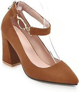 BalaMasa Womens APL12168 Pu Block Heels