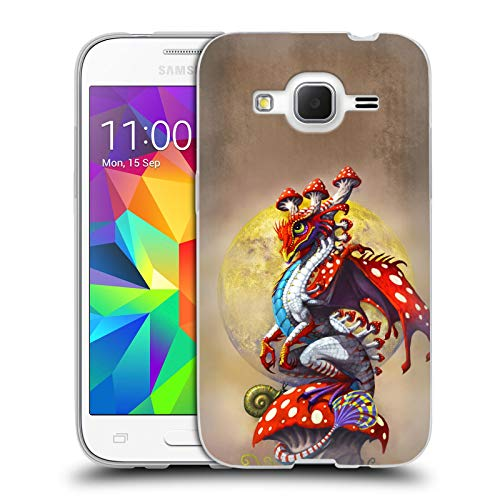 Head Case Designs Officially Licensed Stanley Morrison Mushroom Garden Dragons 3 Soft Gel Case Compatible with Samsung Galaxy Core Prime