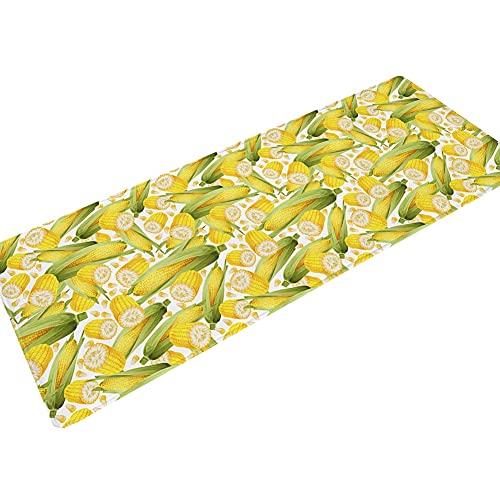 OPLJ Tappetino da Ingresso con Stampa Floreale 3D Tappetino da Cucina Tappetino da Bagno Lungo Lavabile Antiscivolo Tappetino da Bagno per la casa Tappetino A11 60x180 cm