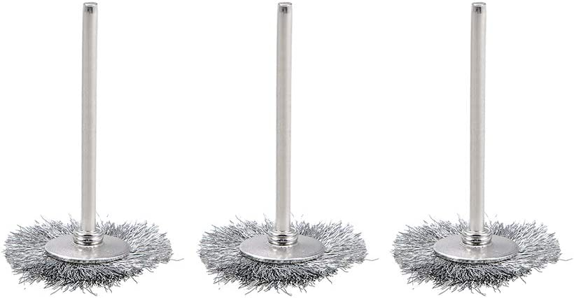 Department store uxcell Mini Wire Cup Brush Crimped Steel with Sh 3mm 2.35mm Popular standard 25 X