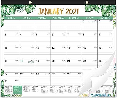 2021 Desk Calendar 12 Months Desk Calendar 17 x 12 Monthly Desk or Wall Calendar January 2021 product image