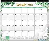 2021 Desk Calendar - 12 Months Desk Calendar, 17' x 12', Monthly Desk or Wall Calendar, January 2021 - December 2021, Planning and Organizing for Home or Office, WHITE GREEN LEAF CALENDAR