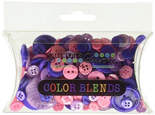 Buttons Galore Color Blend Buttons, 3 oz, Purple/Lavender/Bright Pink