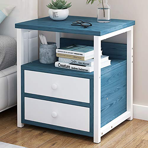CAIXIN Modern Rectangular Side End,2-4 Tier Small Nightstand Bedside Table With Drawer For Storage,Sturdy Sustainable Cabinet For Bedroom