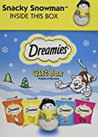 Deliciously crunchy on the outside, soft on the inside; cats simply can't resist the great taste of DREAMIES So go on, treat your cat this Christmas with a selection of delicious treats and a SNACKY SNOWMAN wobble toy to keep them busy this festive p...