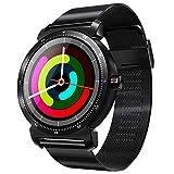 TOOGOO K88H Plus Smart Bracelet 4.0 Smart Watch Impermeabile Monitoraggio della Frequenza Cardiaca Pressione Sanguigna Sport Smartwatch Nero