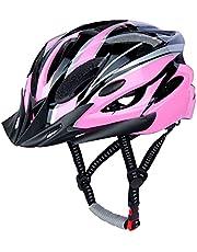 LUCKATCH Fietshelm voor volwassenen, mountainbike-helm, racefietshelmen met afneembaar vizier en bekleding, lichte fietshelm met kinbescherming, voor mannen en vrouwen (56-60 cm)