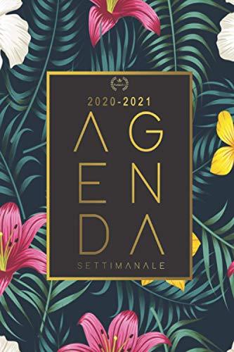Agenda settimanale 2020 2021: Agenda 2020 2021 | A5 | Weekly Planner 2020 2021 | Agenda 2020 2021 Giornaliera | 18 Mesi | Agenda 2020 2021 italiano | Tascabile .