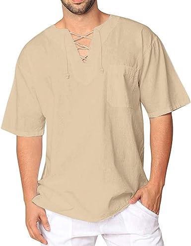 Camisetas informales de hombre, camisa de manga corta de ...