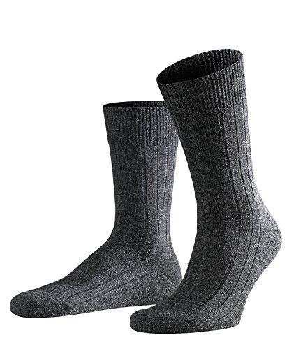 FALKE Herren Socken Teppich Im Schuh, Schurwolle, 1 Paar, Grau (Anthracite Melange 3080), 43-44 (UK 8.5-9.5 Ι US 9.5-10.5)