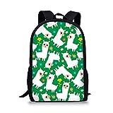 Showudesigns - Bolsas para libros para niñas y niños, Verde alpaca (Verde) - Z-L3501C6-2...