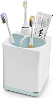 Luvan Toothpaste Holder (White/Blue, Small)