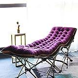 WigWu Cojín reclinable de jardín antideslizante de repuesto para silla de 173 x 55 x 8 cm, para tumbonas de jardín, respaldo alto, cojín de asiento de oficina, sala de estar, playa (173 x 55 x 8 cm)